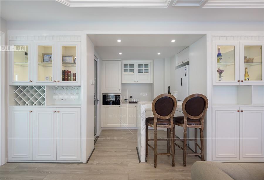 皇御苑美式100平米3室2厅1厨2卫装修效果图_莫川装饰